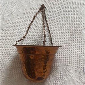 VTG Alford Co. hammered copper succulent pot